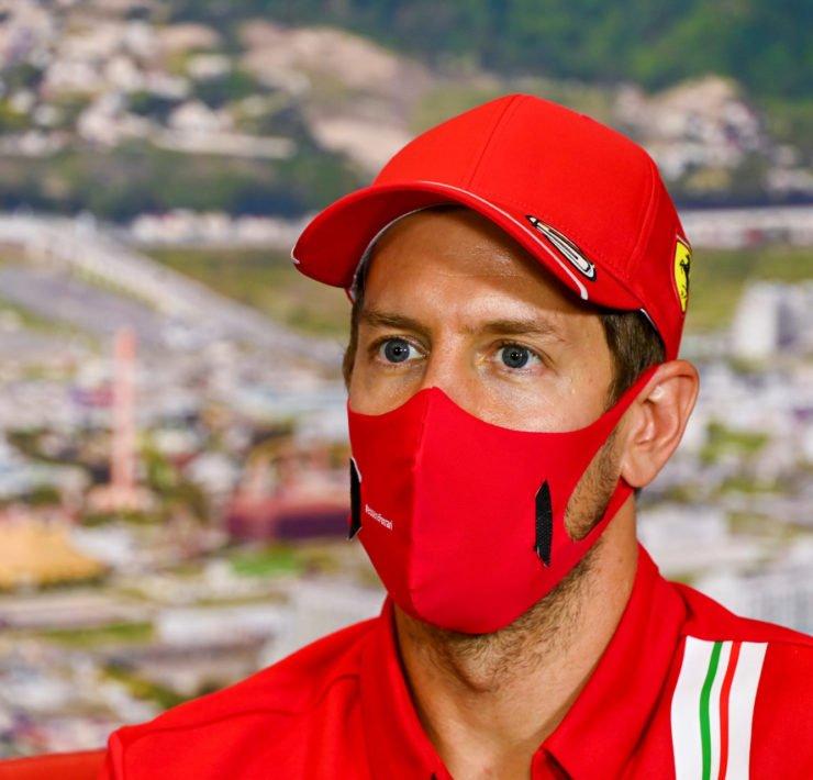 Sebastian Vettel During Russian GP Press Conference