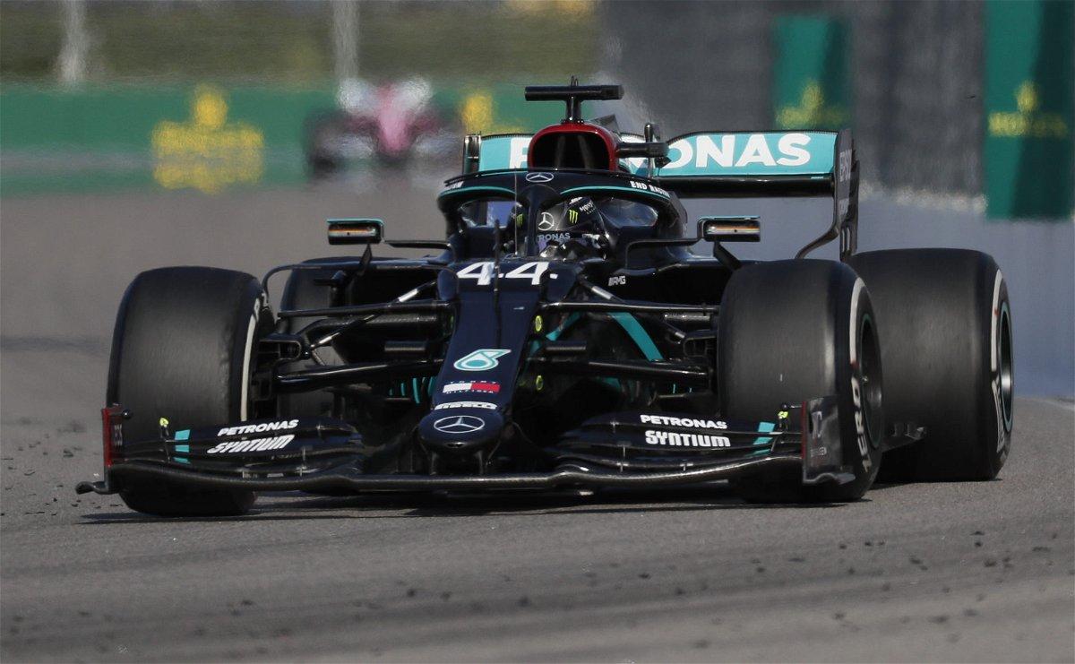 Lewis Hamilton Racing In The Russian GP
