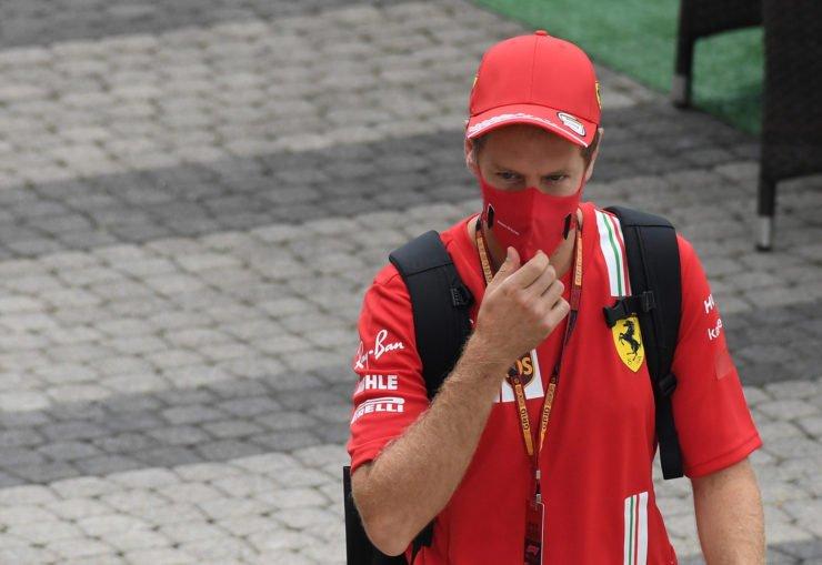 Sebastian Vettel on Sunday at Sochi Autodrom