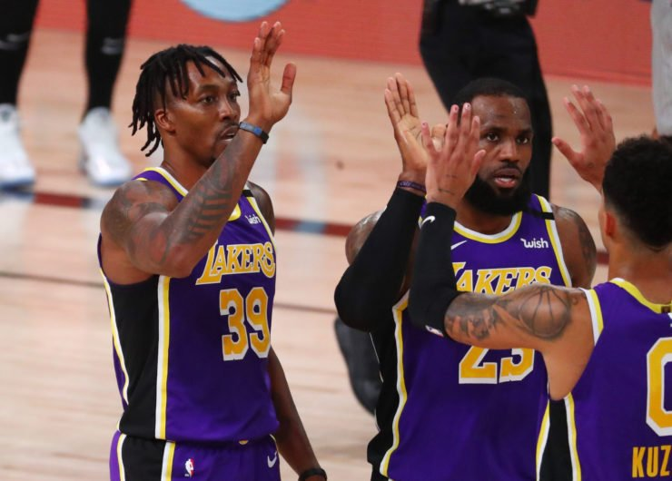 Dwight Howard with Lakers in NBA Playoffs 2020