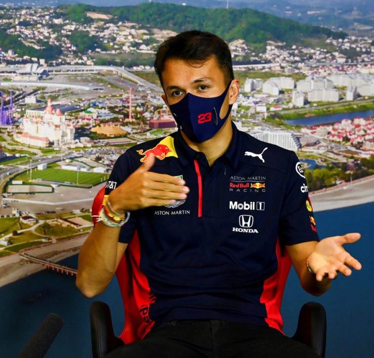 Alex Albon During The Russian GP Press Conference
