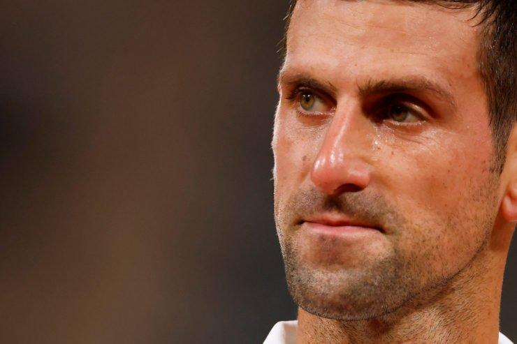 Novak Djokovic Shots an Angry Glare at Spectator at fo2020