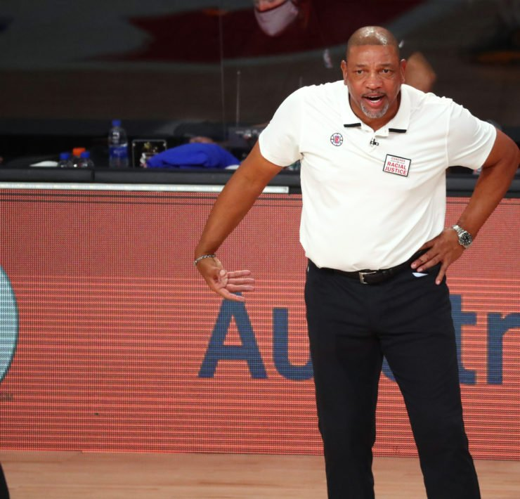 Philadelp head coach Doc Rivers during NBA Playoffs 2020