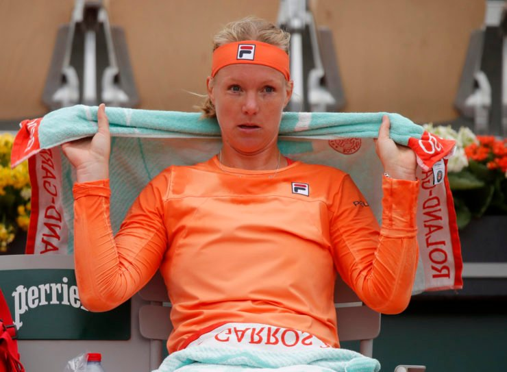 Kiki Bertens at the 2020 French Open