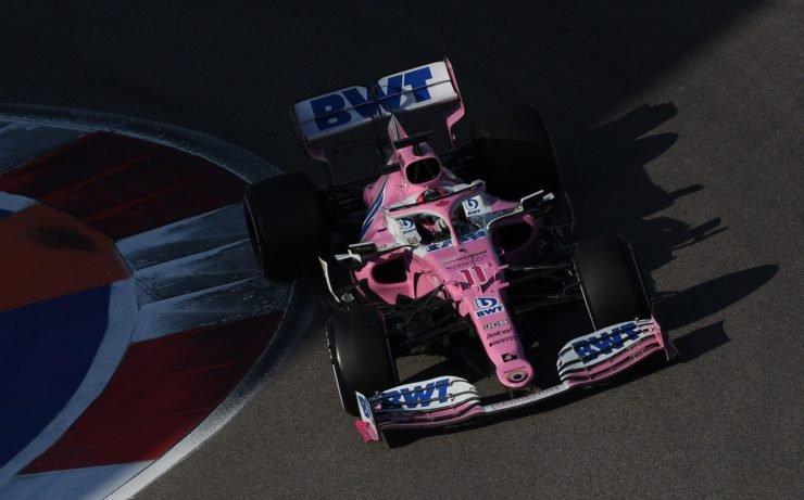 Sergio Perez at The Russian Grand Prix