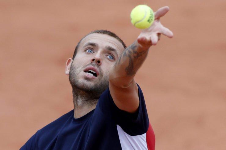 Dan Evans at French Open 2020