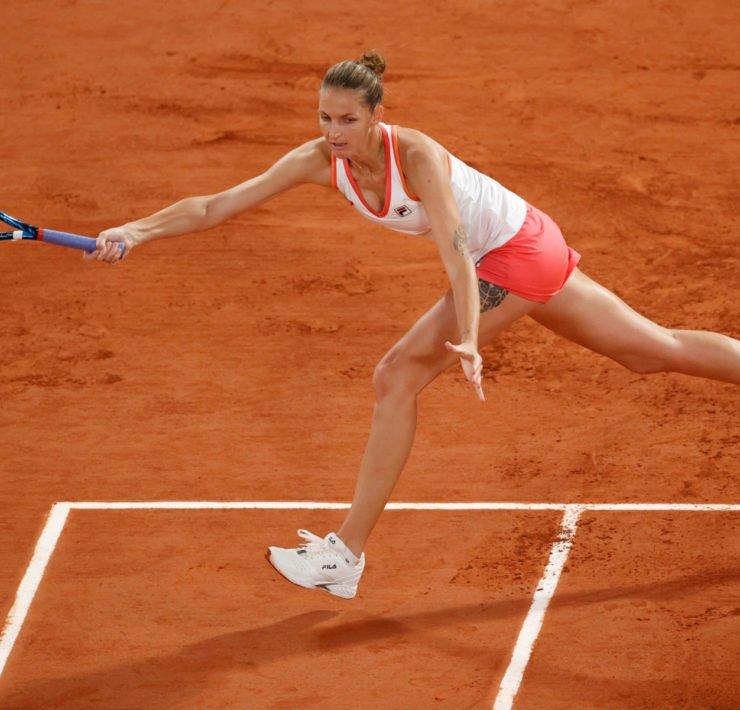 Karolina Pliskova at the French Open 2020