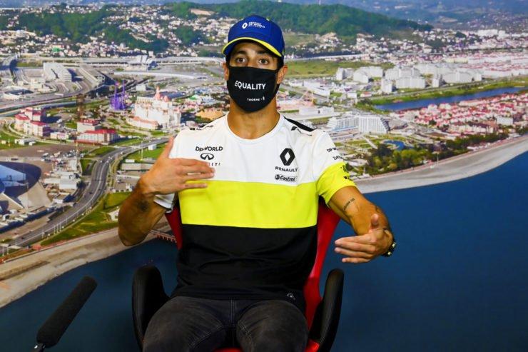 Daniel Ricciardo During The Russian GP Press Conference