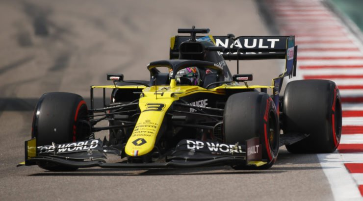 Renault driver Daniel Ricciardo in action at Sochi