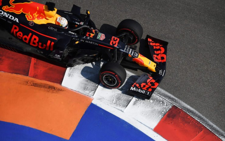 Red Bull racer Max Verstappen at Sochi