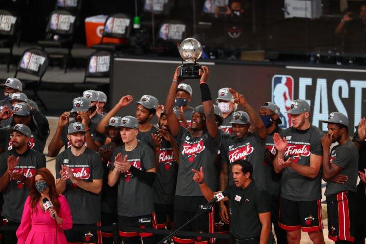 Miami Heat Celebrate Winning Eastern Conference Championship