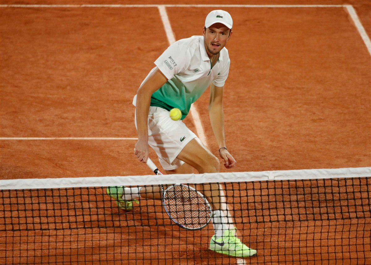 Daniil Medvedev at the French Open 2020