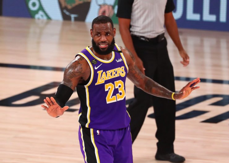 Los Angeles Lakers forward LeBron James at the 2020 NBA Playoffs