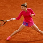 Simona Halep in action in the French Open 2020