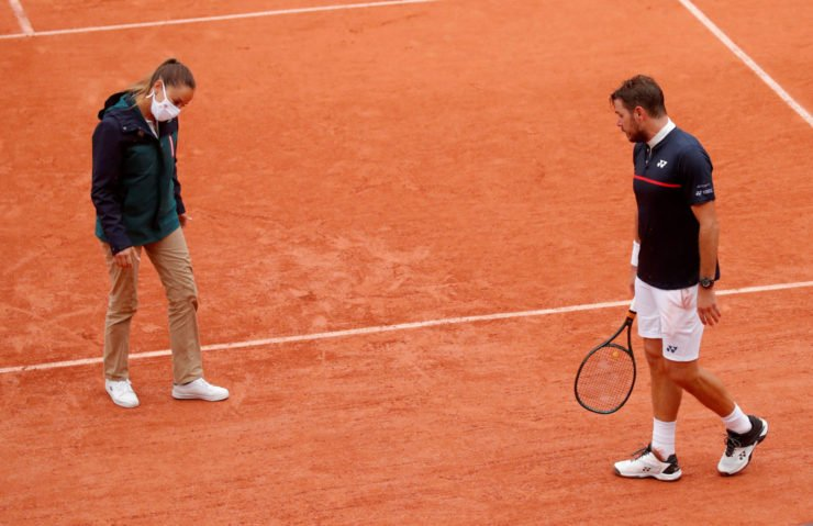 Stan Wawrinka at the 2020 French Open