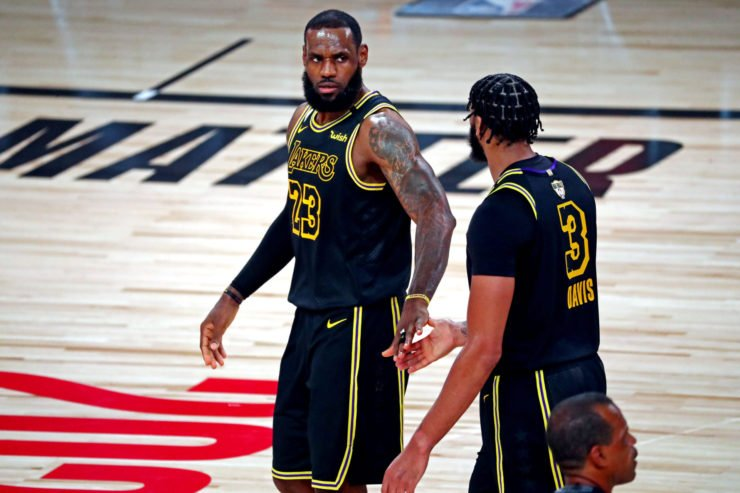 LeBron James and Anthony Davis in 2020 NBA Finals