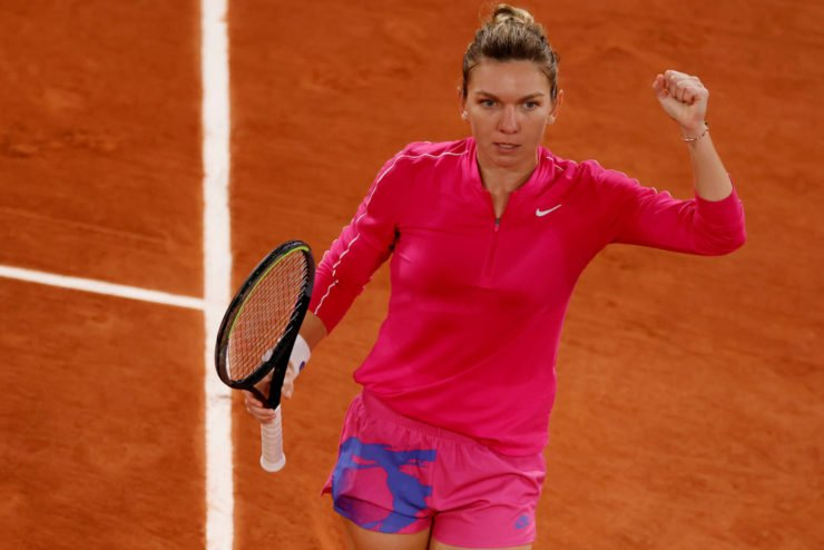 Simona Halep at French Open 2020
