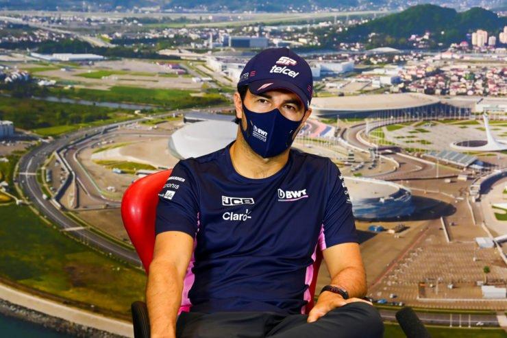 Sergio Perez During Russian GP Press Conference
