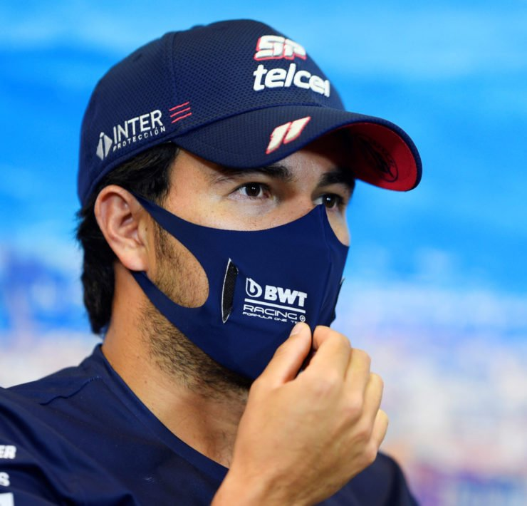 Sergio Perez During Tuscan GP Press Conference