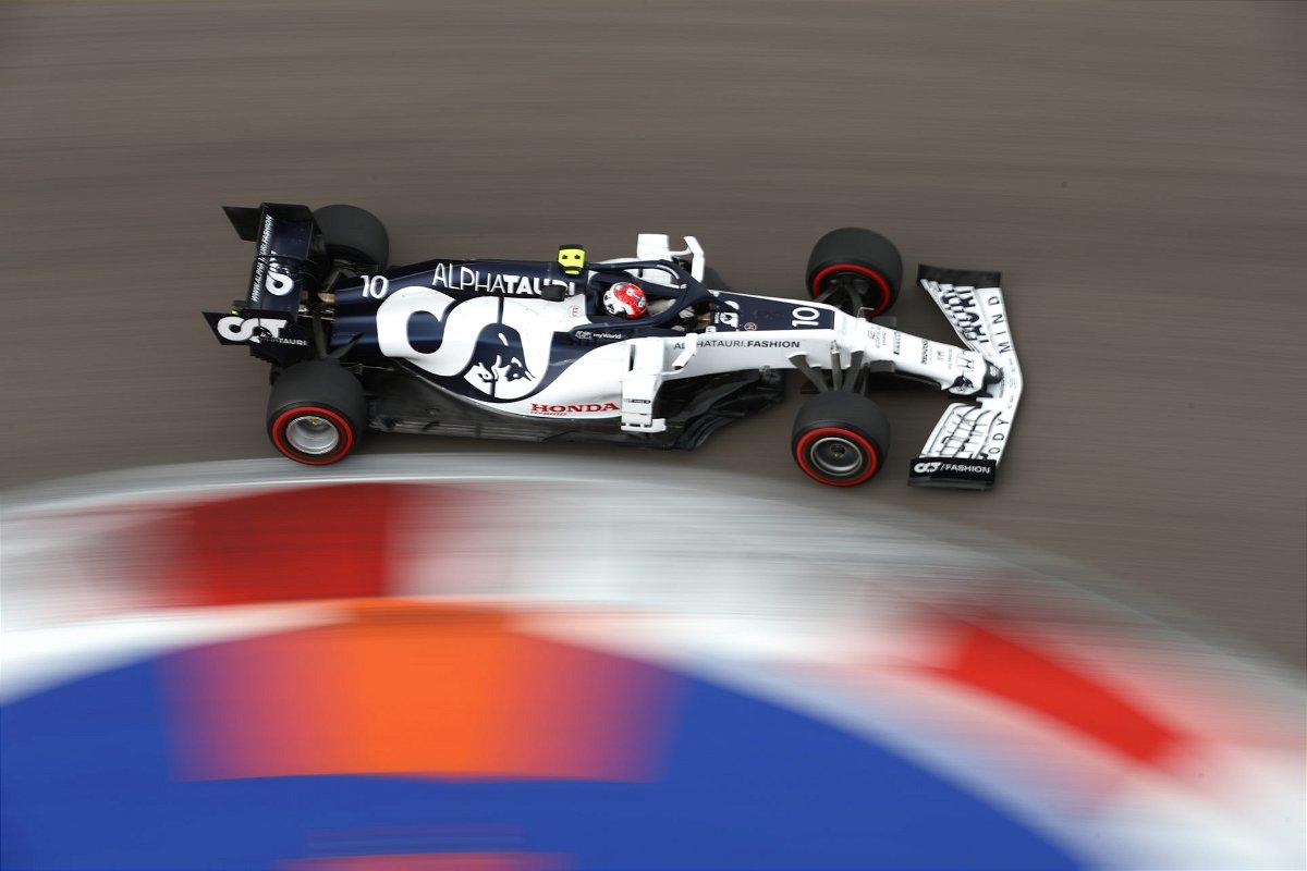 AlphaTauri's Pierre Gasla during the F1 Russian Grand Prix Qualifying