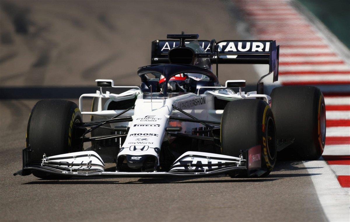 AlphaTauri's Daniil Kvyat during the F1 Russian Gp Qualifying