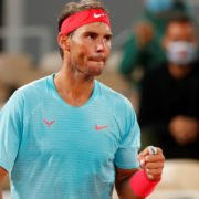 Rafael Nadal in action in the French Open 2020