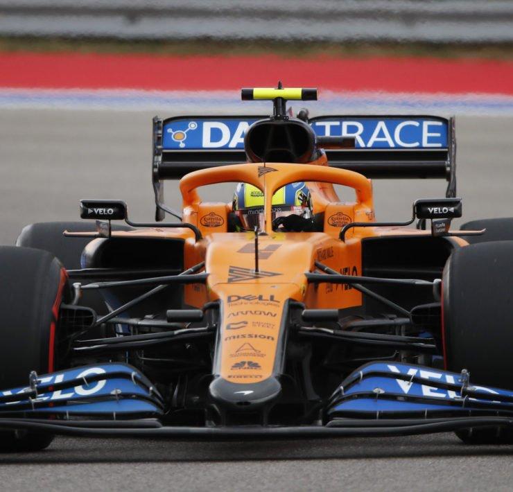 McLaren driver Lando Norris During Russian GP Qualifying