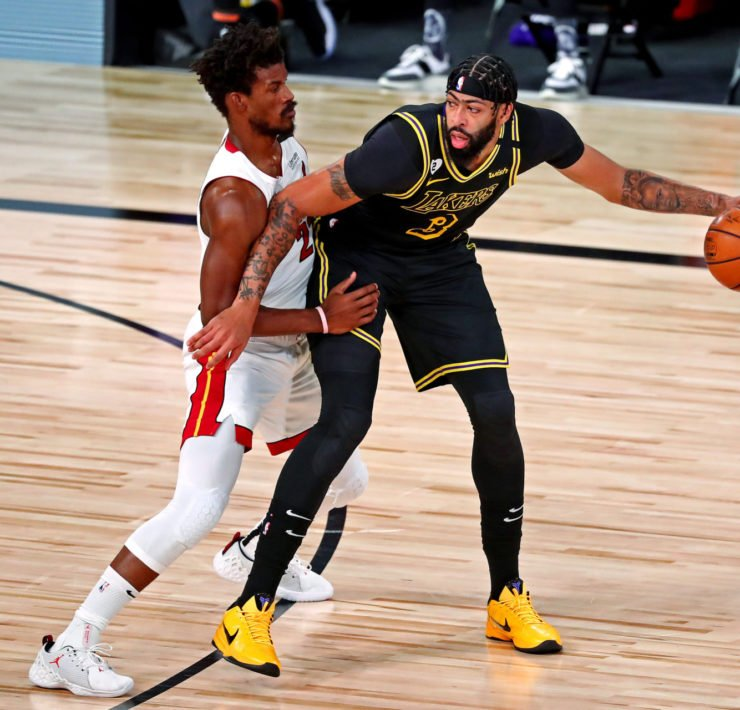 Lakers' Anthony Davis against Miami Heat