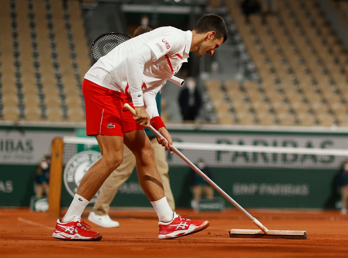 Watch Novak Djokovic Takes Up A New Role At French Open 2020 Essentiallysports