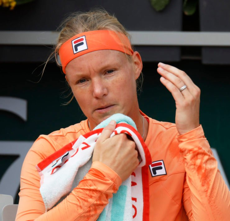 Kiki Bertens at the French open 2020