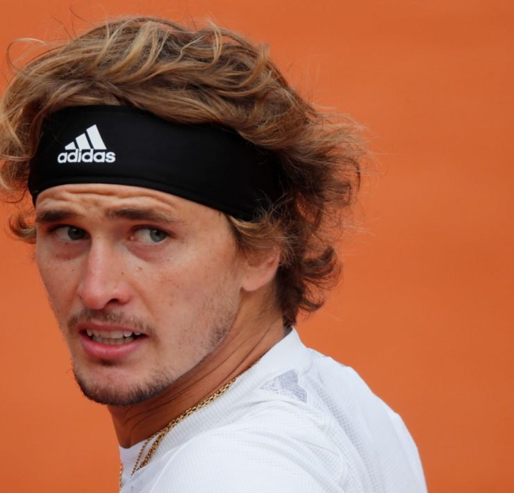 Alexander Zverev at the French Open 2020