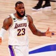 Los Angeles Lakers foward LeBron James