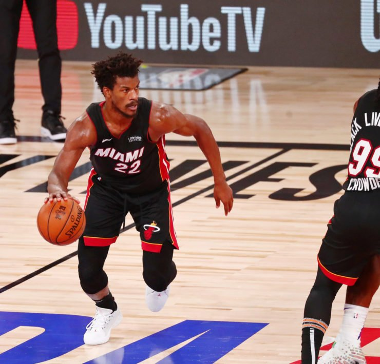 Jimmy Butler scored a triple-double in NBA Finals Game 3 against Lakers