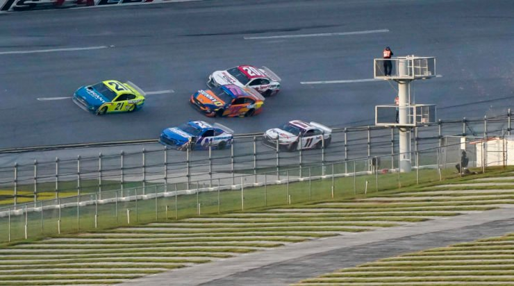 William Byron in action during the NASCAR Cup Series race at Talladega