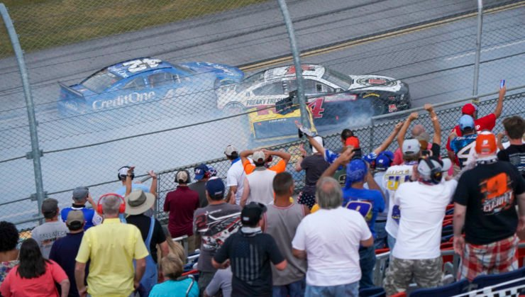 Driver crash during the NASCAR Cup Series race