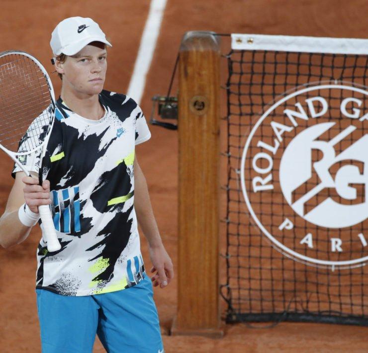 Jannik Sinner celebrates at French Open 2020