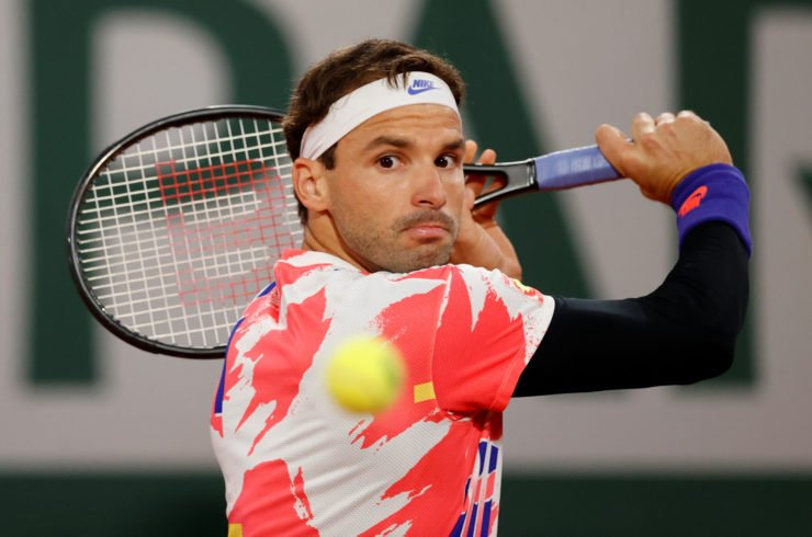 Grigor Dimitrov at the French Open 2020