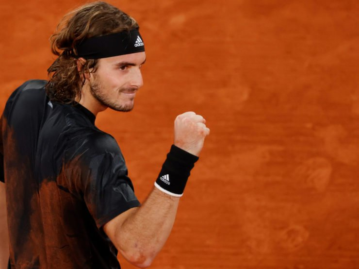 Stefanos Tsitsipas after his victory in the French Open 2020