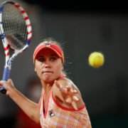 Sofia Kenin in action in the French Open 2020
