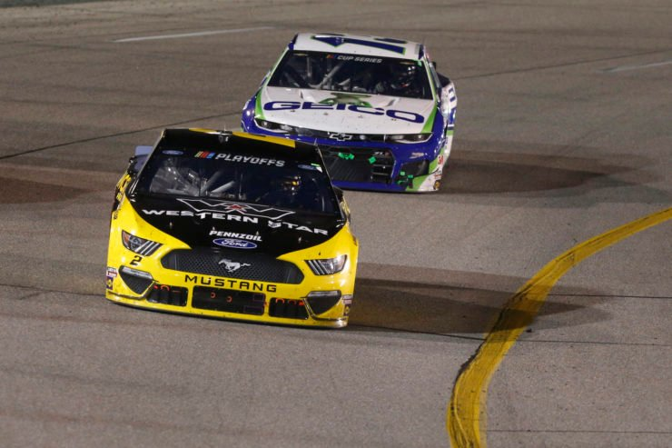 Brad Keselowski and Ty Dillon in action in NASCAR Cup Series