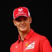 Mick Schumacher is all smiles at a Ferrari event
