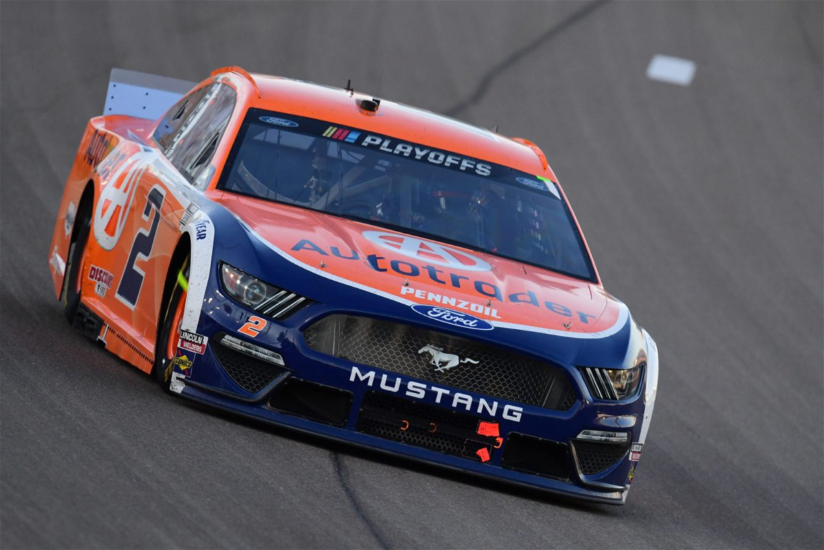 Brad Keselowski in action in NASCAR Cup Series