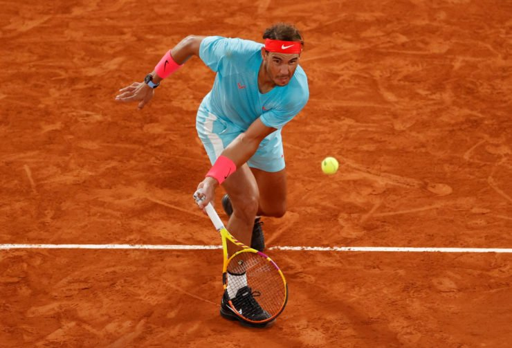 Rafael Nadal in action at French Open 2020