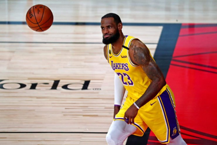 Los Angeles Lakers forward LeBron James in 2020 NBA Finals