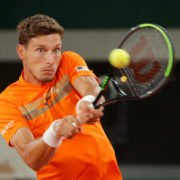 Pablo Carreno Busta plays a shot during his French Open 2020 match