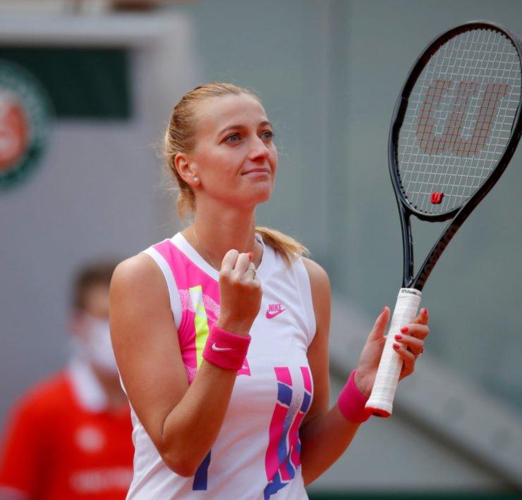 Petra Kvitova at French Open 2020