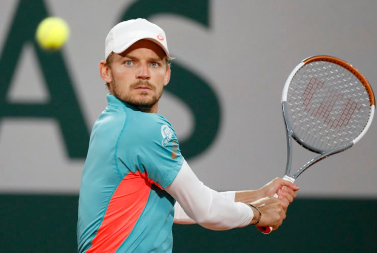David Goffin at the French Open 2020