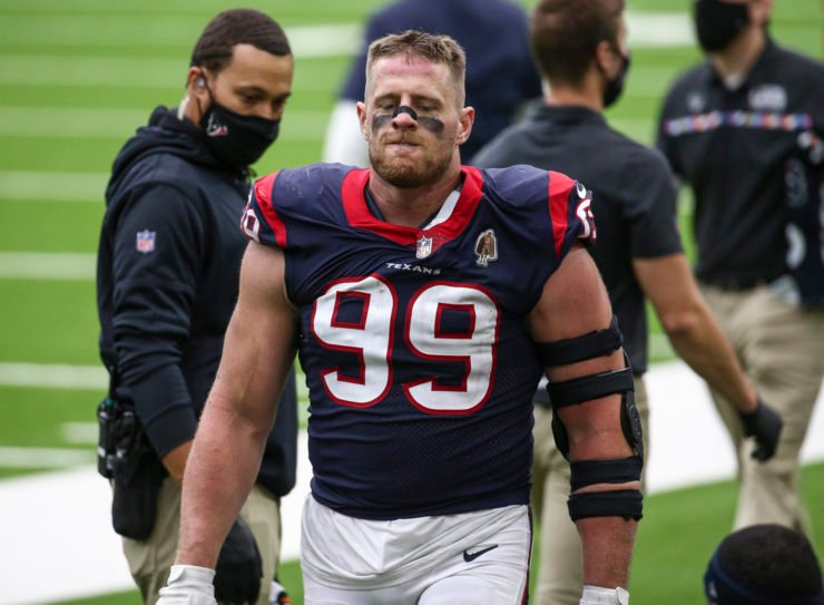 Houston Texans defensive end JJ Watt pictured against the Minnesota Vikings in Week Four.