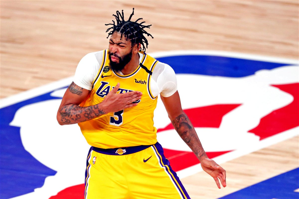 Lakers' Anthony Davis during the NBA Finals