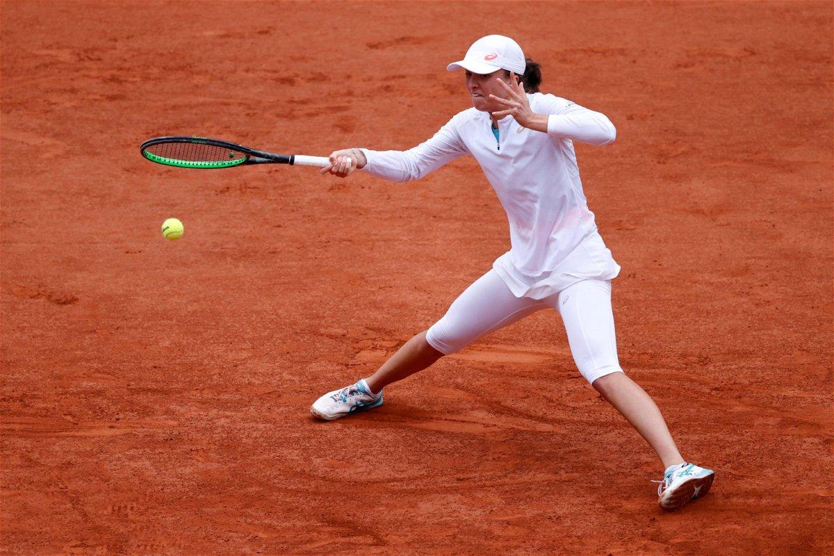 Sofia Kenin in action in French Open 2020